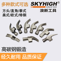 Aussie new high carbon steel square head sheep horn 鎚 woodworking 鎚 iron 鎚 hammer with magnets Oxin