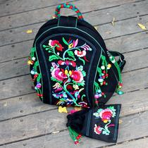 National wind embroidery hand knitting shoulder woman bag rich transshipment beads abroad to study gifts Jiapin