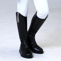长款儿童马靴真牛皮长筒靴秋冬马术装备用品骑马训练靴专业骑马靴