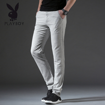 Playboy Korean version of the trend of linen casual business slacks