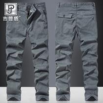 Джип щит новая весна и осень случайные ткани брюки мужчины простые спортивные брюки свободные плюс размер сплошной цвет прямые брюки