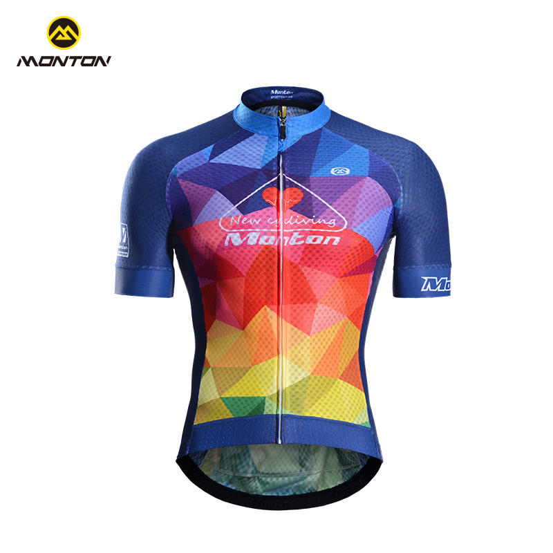 Monton Longyi Spring and Summer Cycling Clothes Short-sleeved Topcoat Mountain Bike Short-sleeved Equipment for Men
