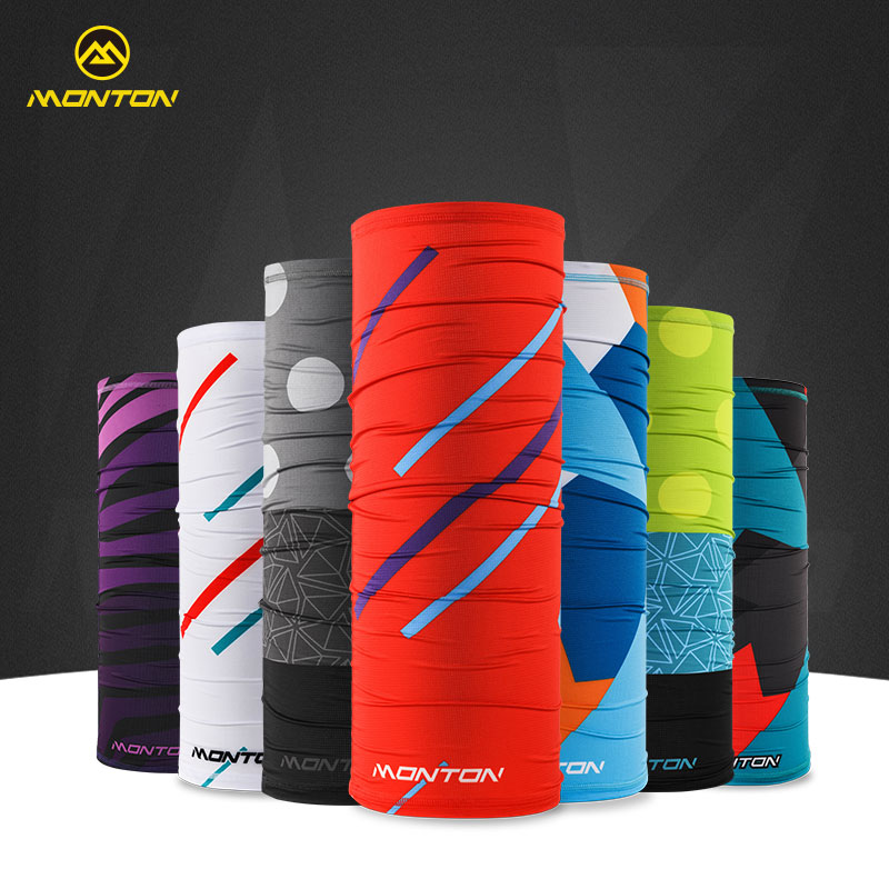 Monton cycling, Monton riding magic face towel headband sunscreen men and women sports mask collar ice cool riding equipment