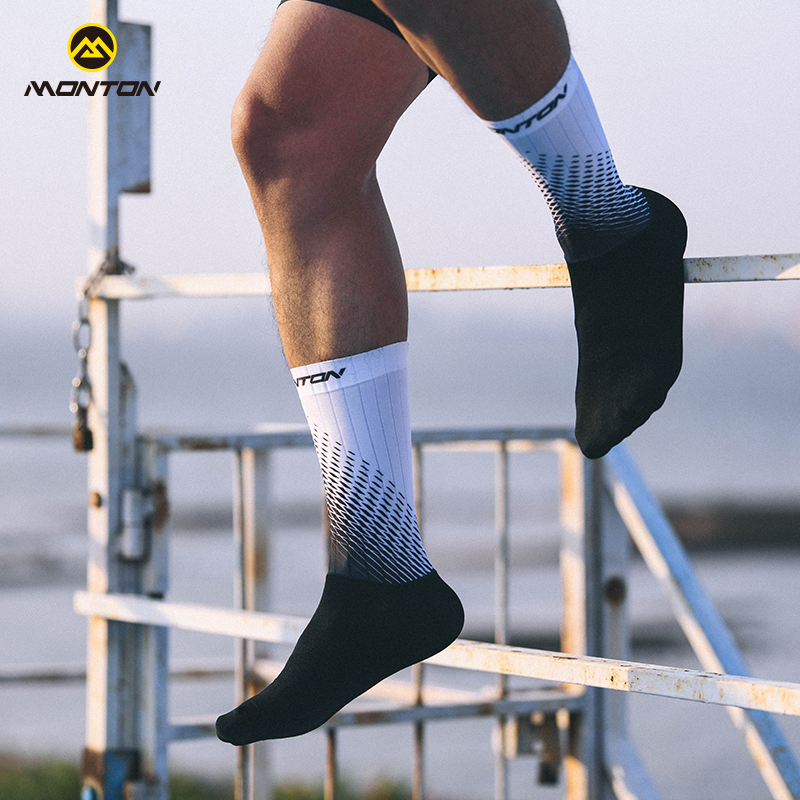 Monton cycling, Monton 18 years riding socks, sweating, quick-drying, breathable socks, spring and summer functional socks, running, cycling, sports socks, equipment