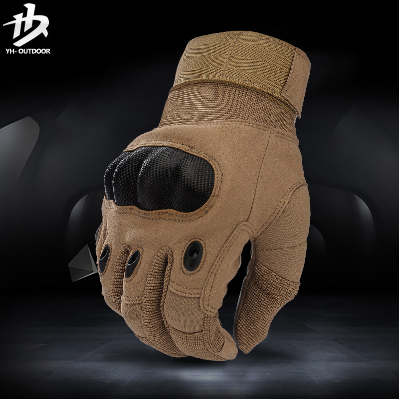 [The goods stop production and no stock]Yihe Outdoor Tactical Glove Male All-Finger Special Forces Anti-Cutting Combat Black Hawk Fighting Glove Half-Finger Defense