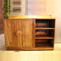 Man Coffee old elm prepare the Cabinet bucket cabinet bar cafe prepare the Cabinet factory direct