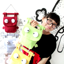 PLUMO multi-layer wall hanging bag bags cute cartoon cloth storage bag behind the door cover and sprouting 5 color optional