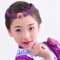 Mongolian headdress female ethnic beaded new adult girls Mongolian headdress female adult hand dance headdress headband