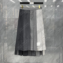 Thom Browne Japanese TB skirt 21 autumn winter classic color color pleated casual half-length dress women