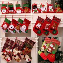 Christmas decorations Christmas Socks gift bag Christmas tree pendant christmas decorations socks Independent packaging