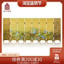 (Forbidden City Taobao) flagship store official website Cultural and creative thousands of miles of country map Chinese style mini desktop small screen ornaments