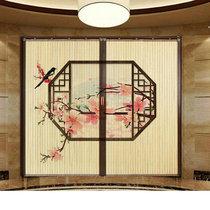 Пользовательские китайские ретро отель чайхане перегородки печатных бамбуковый занавес складной занавес толчок и тянуть дверь движущихся двери в помещении открытым