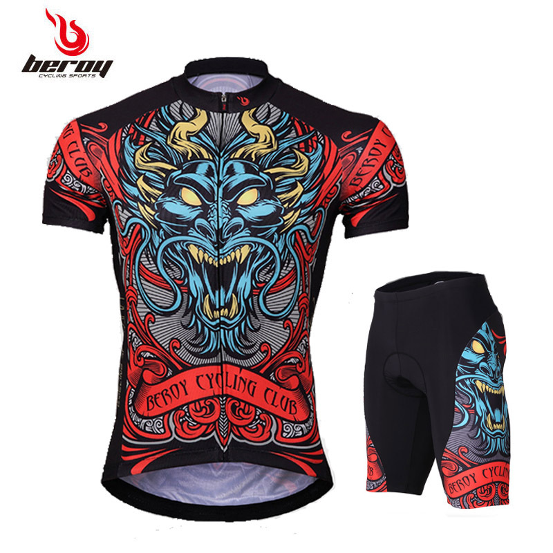 Men's Short Sleeve Bicycle Suit Summer Mountain Bicycle Clothing
