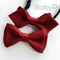 BabyP ручной работы темно-красный детский галстук-бабочка 100 дней для мальчиков ребенка галстук галстук