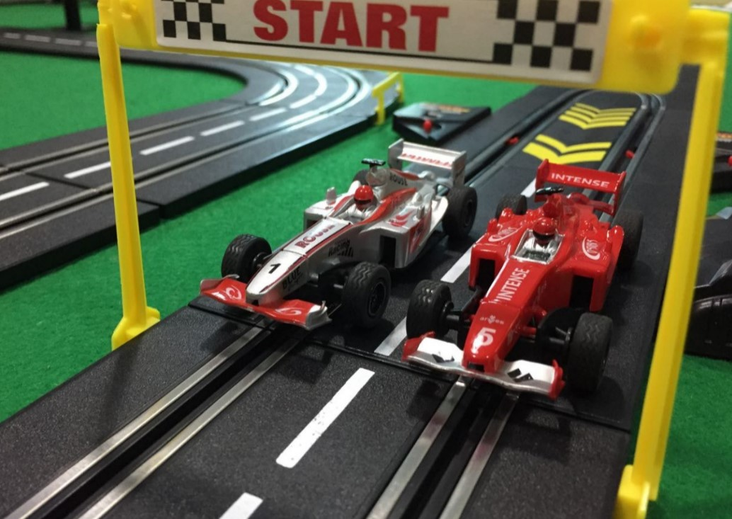 Car (for track racing electric hand shake)