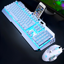 New League robot feel keyboard mouse group wired headphones three-piece set of electronic competition game notebook computer