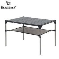 Black Deer outdoor geometric folding table picnic barbecue table camping stall multifunctional aluminum alloy portable table