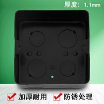 Ground-inserted bottom box 10x10 black metal socket ground-plug box black box metal ground black box high-strength thickening