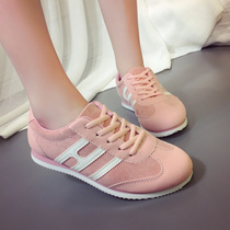 Female Korean leisure shoes spring 2017 new ladies shoes versatile students slimmer flat running shoes wave