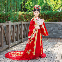 Childrens queen costume girls tailing Princess Princess Palace ancient clothes fairy catwalk show hanfu