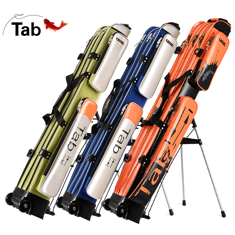 Tab fishing wrapping rod wrapping water-proof fishing gear wrapping 1.25m double-layer hard-shell rod wrapping rod wrapping ultra-light three-layer