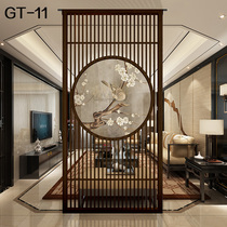 Chinese solid wood living room screen partition translucent office floor-to-ceiling teahouse hotel Entrance Fence seat screen