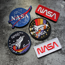 NASA Space Shuttle color jet embroidery Velcro NASA badge bag with hook noodle shaped armband