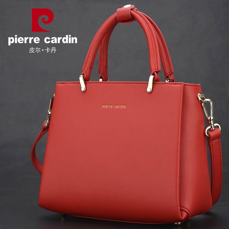 Pierre Cardin Handbag Girl 2019 New Tide Slant Bag Leather Korean Version Baitao Fashion Single Shoulder Bag