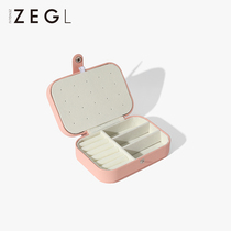 ZEGL jewelry box Storage box Small exquisite ins wind portable necklace box Earring box Ring earrings jewelry box