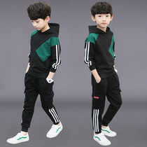 2020 boys spring suit yangqi suit sports sweater childrens wear Korean version of the new 2019 handsome tide yangqi big child