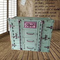 American dining side cabinet multi-functional lockers retro dining cabinet iron container industrial wind restaurant cabinet custom