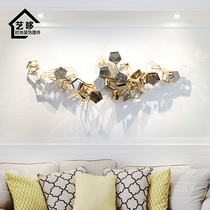 Model room and office wall decoration three-dimensional pendant Porch restaurant wall decoration Light Luxury metal wall decoration wall decoration jewelry