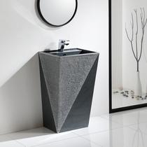 Column basin Marble Art basin bathroom wash basin integrated wash pool balcony washing table outdoor wash basin