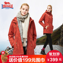 Dragon and lion Dell schoffel female three-in-one set of two removable padded coat in autumn and winter mountaineering clothing men