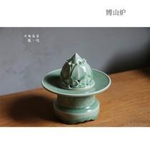 Longquan Цин фарфоровый лес Songbo горной печи все ручной резной ладан печи Песня стиле домашняя комната для коллекции антикварной печи Будды