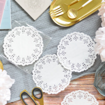 Doki Lace paper mat round tableware Pad cup cushion cake paper pad lace paper Bottom