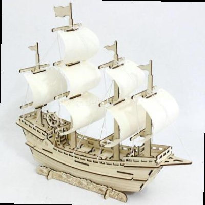 Building 3d three-dimensional jigsaw puzzle wood large-scale assembly animal model ship model aircraft carrier smooth sailing wood man.