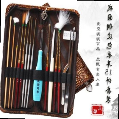 Advanced tool picking ear professional Yangzhou pulls out the ear 15 piece set digging ear spoon keying set Japan