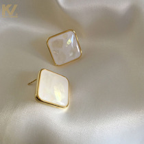 Natural fritillary earnail female 2021 trendy South Korea contracted temperament web celebrity earring female sterling silver retro earrings
