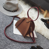 2016 South Korea's new autumn and winter frosted triangle bag ladies bag dumplings bag fashion shoulder diagonal hand-carry bag