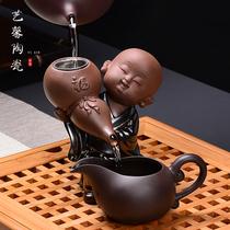 Creative Little monk Purple Sand tea leakage Kung Fu tea Set Road accessories Ceramic Samurai Tea Filter Mesh