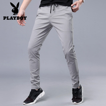 Playboy Korean version of the trend slim fit youth stretch feet pants