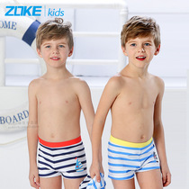 3d6ce63551 zoke childrens swimming trunks boys flat angle cartoon large childrens  students swimming trunks baby beach quick