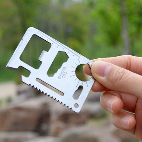 Outdoor camping supplies multi-functional Swiss Army knife card credit card card portable all-purpose tool card folding knife