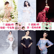 2017 pregnant women clothing apparel Photography photo photo studio wedding dress art belly Mommy lease