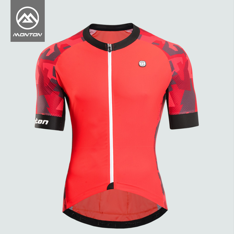 Monton pulse riding suit men summer suit bicycle short-sleeved shirt mountain quick-drying equipment clothing