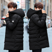 2017 in the long winter new camouflage cotton men coat jacket cotton dress trend of Korean male winter