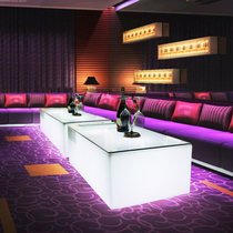 KTV luminous coffee table Bar loose table Creative card seat Net Red nightclub box Rectangular wall bar table