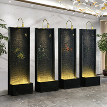 The fountain of the money flowing water set pieces of the living room tea room of the tea room of the water curtain wall Chinese-style decoration office entrance cut-off screen