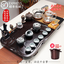 Tea set group home ebony solid wood tea plate set kung fu tea tea tea cup one living room simple